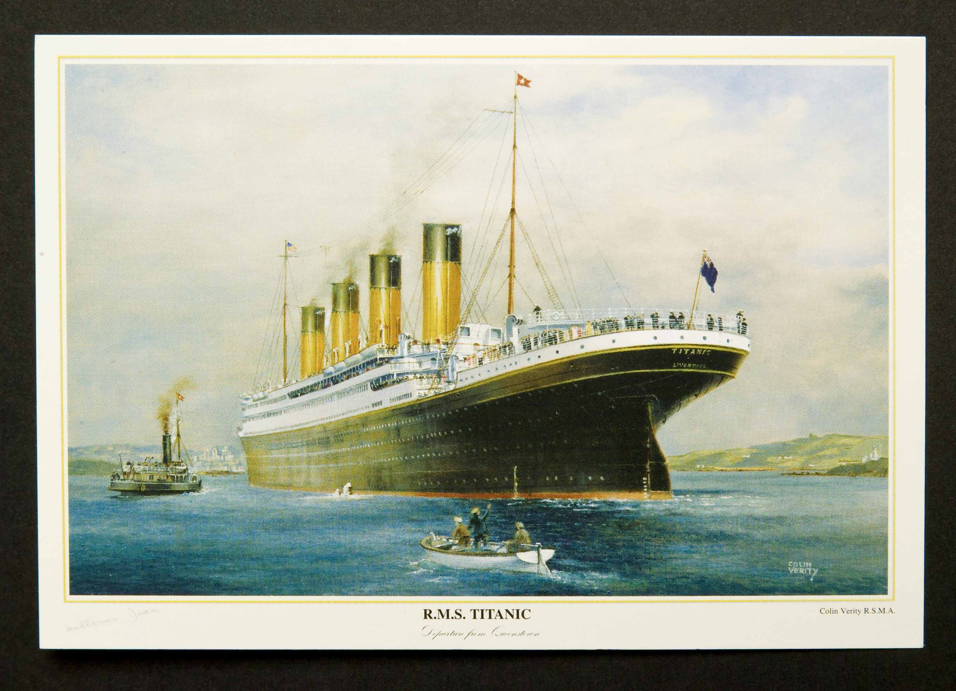 """ R.M.S. Titanic"" Postcards (6) by Colin Verity"